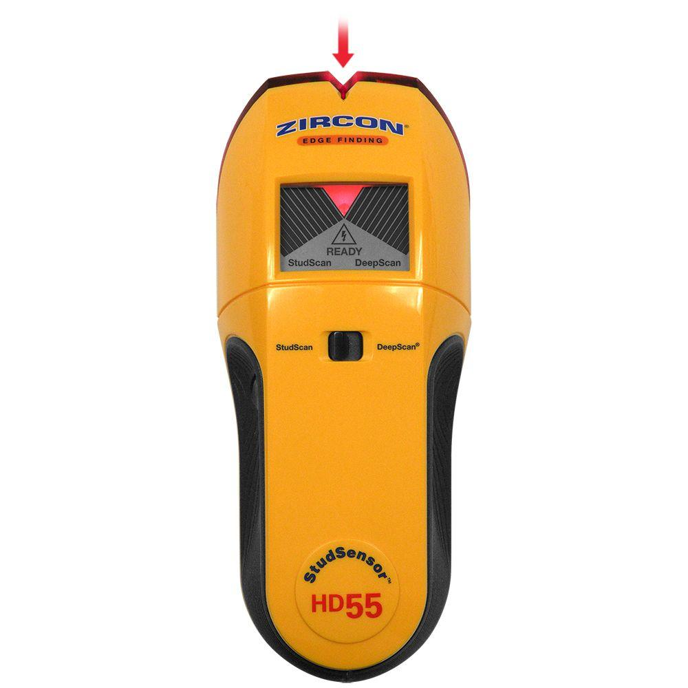 Zircon International HD55 9 Volt 4-Mode Multiscanner for Finding Studs, Live Wire, or Metal w/ Backlit Display (Battery Not Included, Tool Only)
