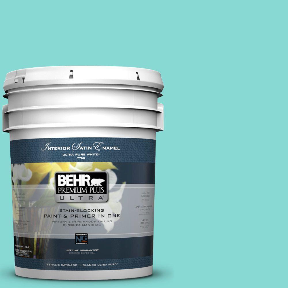 BEHR Premium Plus Ultra 5-gal. #P450-3 Rainwater Satin Enamel Interior Paint