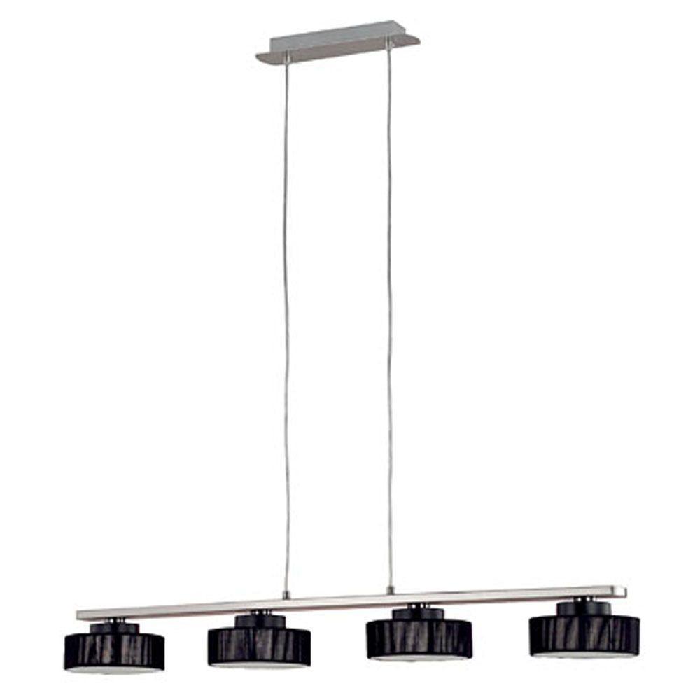 Eglo Monique 4-Light Matte Nickel Linear Chandelier