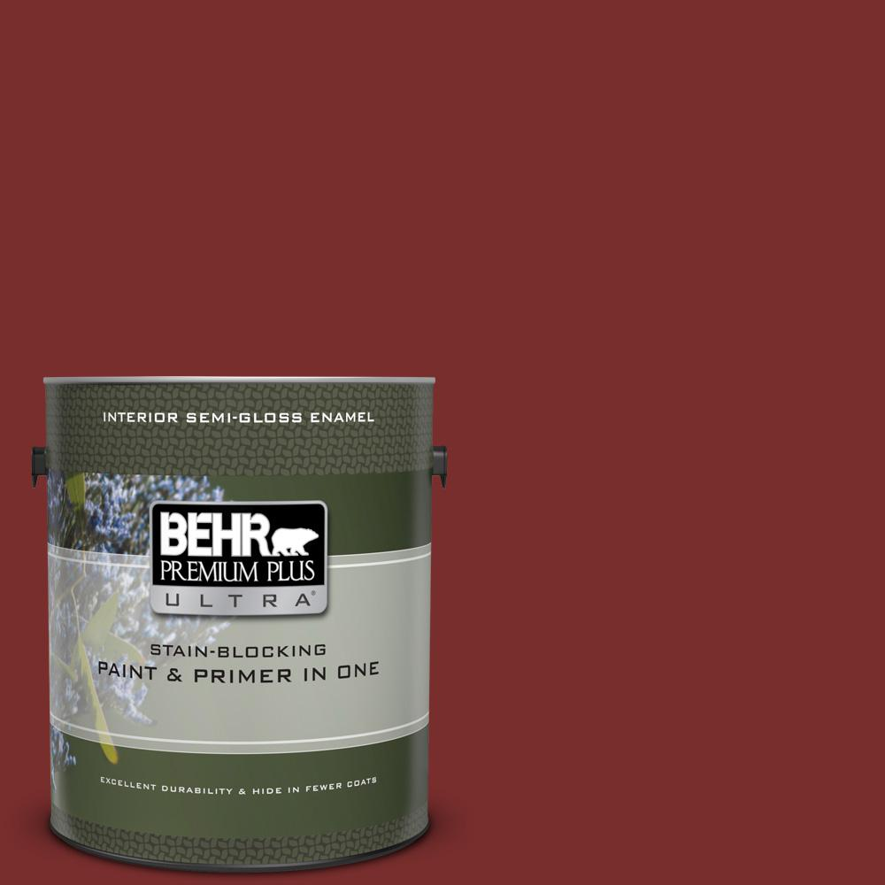 Ul120 22 Red Pepper Semi Gloss Enamel Interior Paint And Primer In One