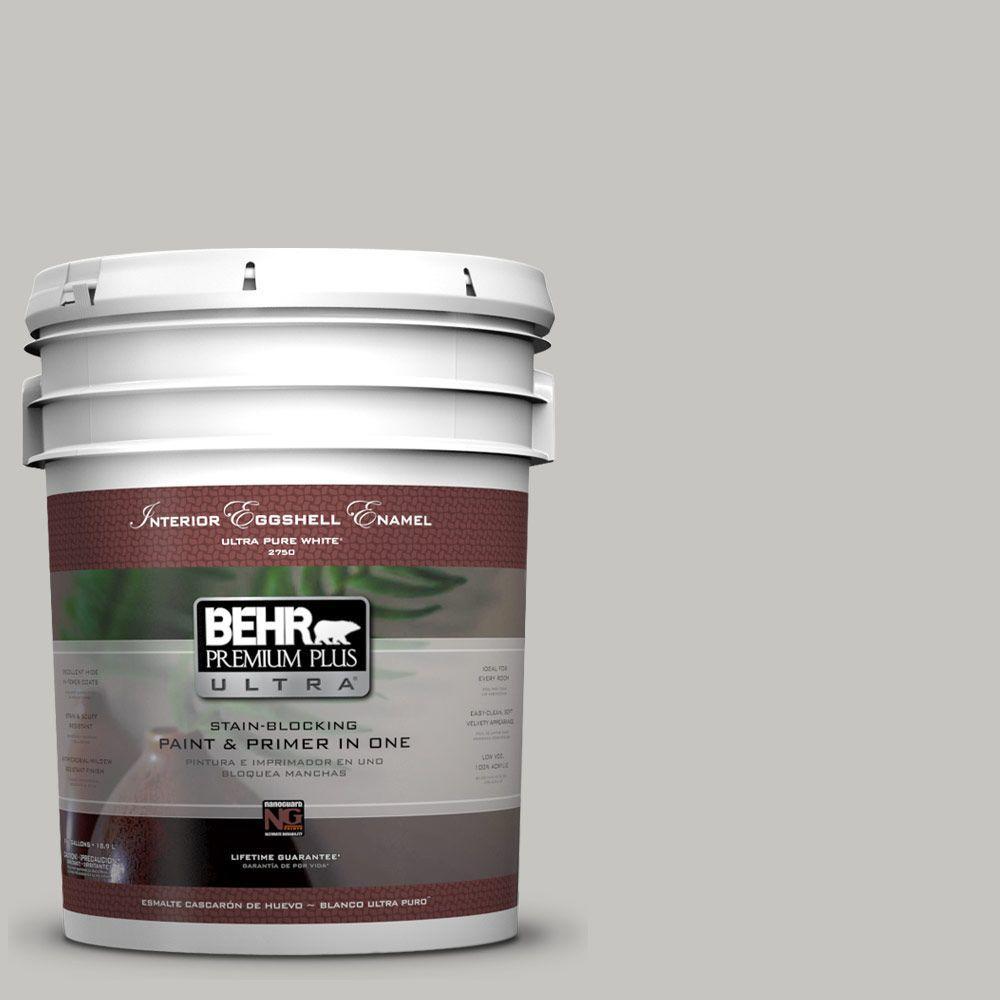 BEHR Premium Plus Ultra 5-gal. #UL260-16 Silver Sateen Eggshell Enamel Interior Paint