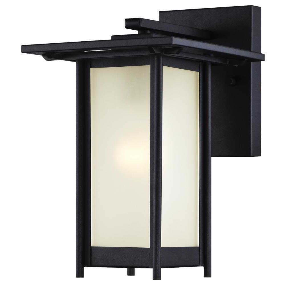 Clarissa Textured Black Outdoor Wall Lantern