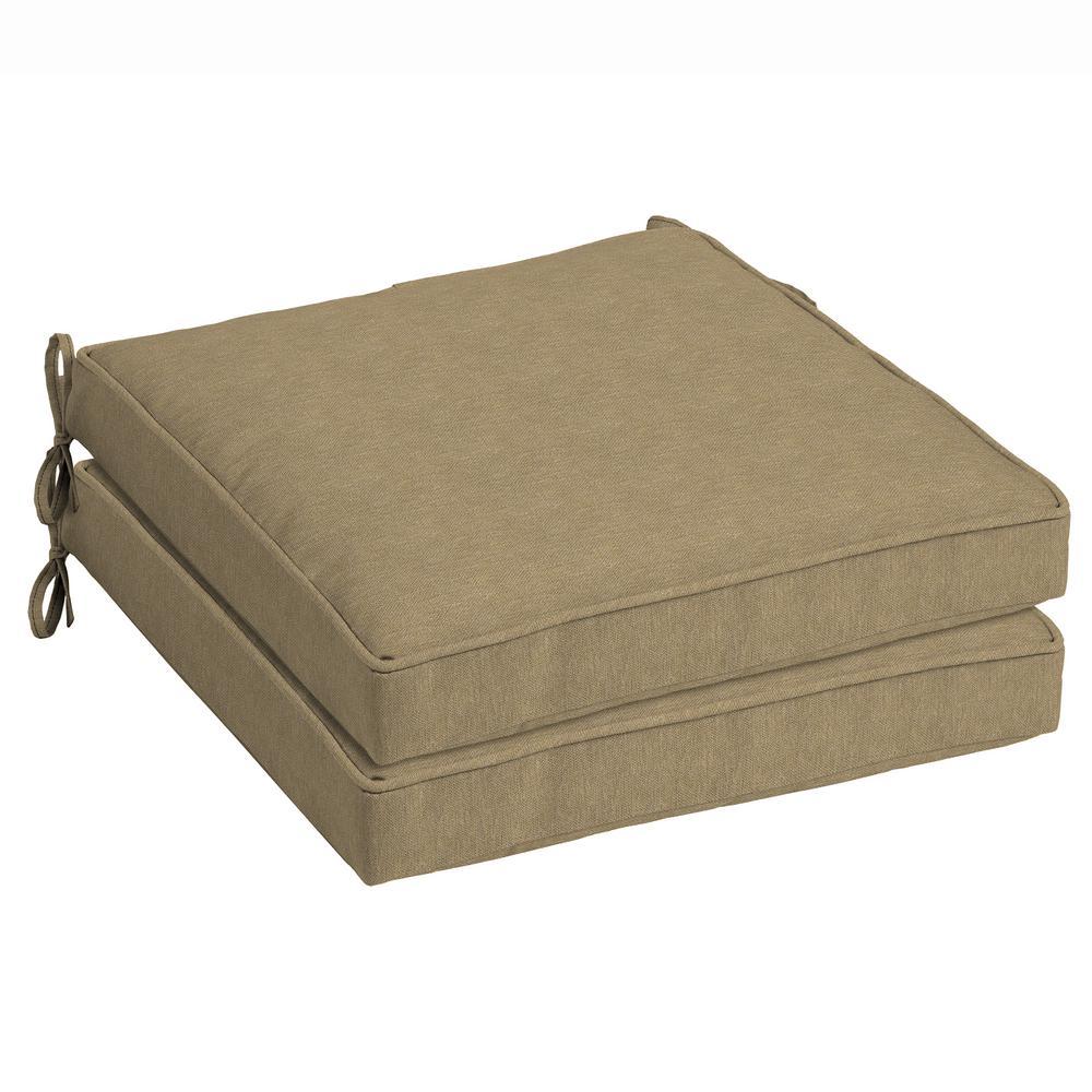 tan hamilton texture outdoor seat cushion pack of 2