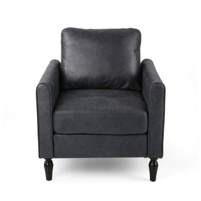 Blithewood Navy Blue and Black Microfiber Club Chair