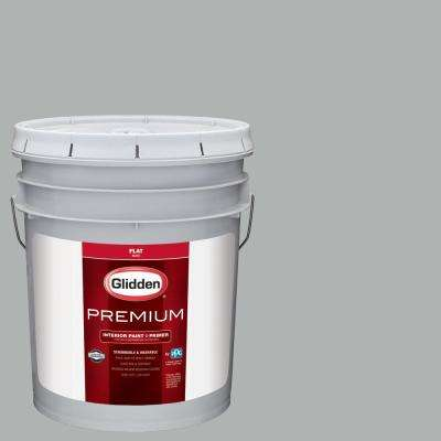 5 gal. #NBA-107B Portland Trail Blazers Silver Flat Interior Paint with Primer