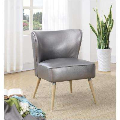 Amity Sizzle Pewter Fabric Accent Chair