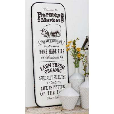 FARMER'S MARKET Iron Decorative Sign (Set of 2)