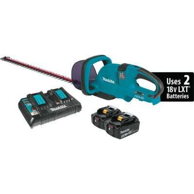 18-Volt X2 (36-Volt) LXT Lithium-ion Cordless Hedge Trimmer Kit with (2) Batteries 5.0Ah and Charger
