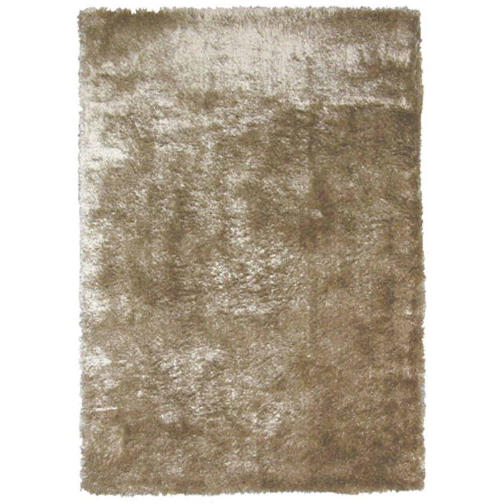 Home Decorators Collection So Silky Sand Polyester 8 ft. x 10 ft. Area Rug