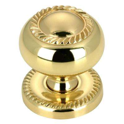 1-1/4 in. (32 mm) Functional Brass Round Cabinet Knob