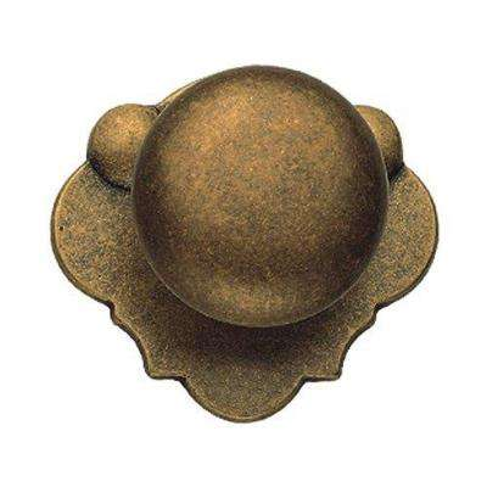 1.85 in. Antique Brass Distressed Knob