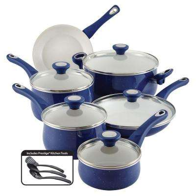 New Traditions 14-Piece Blue Cookware Set with Lids