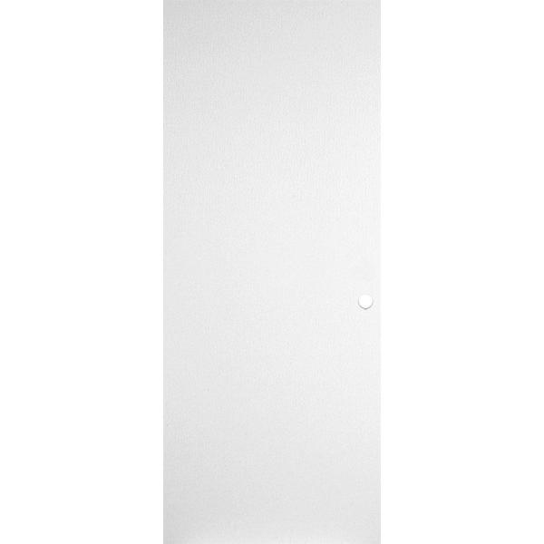32 in. x 80 in. Primed Smooth Flush Hardboard Hollow Core Composite Interior Door Slab with Bore