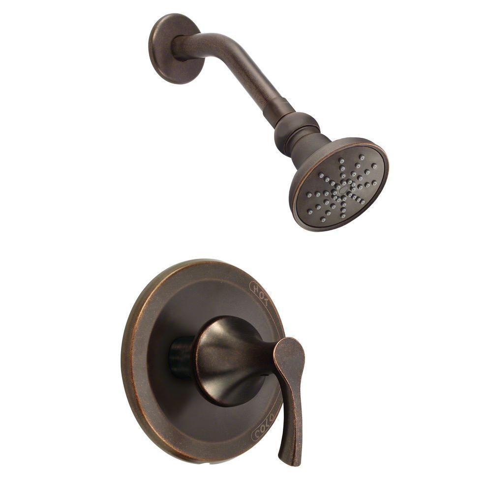 Danze Antioch Single-Handle Shower Faucet Trim Kit in Tumbled Bronze ...