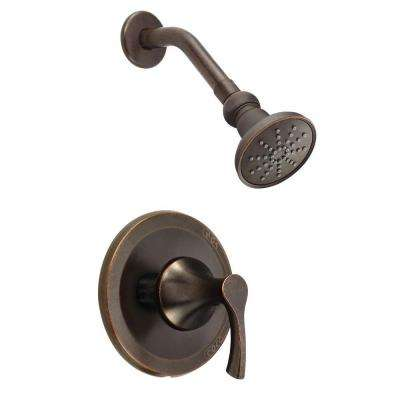 Antioch Single-Handle Shower Faucet Trim Kit in Tumbled Bronze (Valve Not Included)