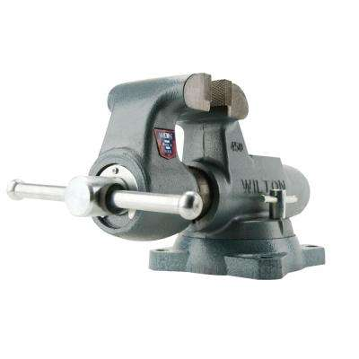 500 S 5 in. Machinist Round Channel Vise with Swivel Base, 4.25 in. Throat Depth