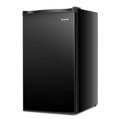 3.2 cu. ft. Compact Refrigerator Mini Dorm Small Fridge Freezer Reversible Door in Black