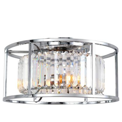 Cecilia 16 in. 2-Light Crystal and Chrome Flush Mount