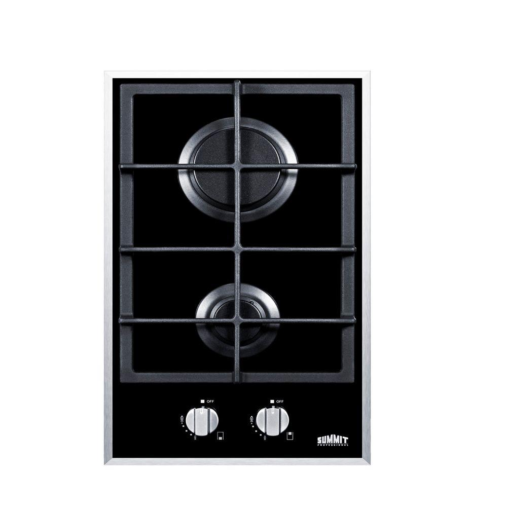 Ge Profile 30 In Gas On Glass Downdraft Cooktop Black With 4 Stove Wiring Diagram 2 Burners