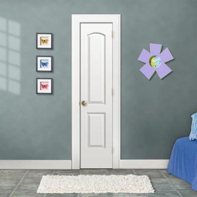 18 in. x 80 in. Continental White Painted Left-Hand Smooth Molded Composite MDF Single Prehung Interior Door