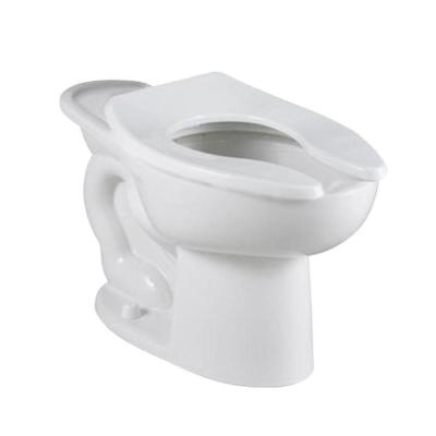 Madera FloWise 1.1 GPF/1.6 GPF Elongated Flush Valve Toilet Bowl Only in White with 16-1/2 in. High Back Spud