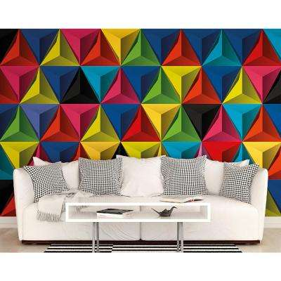 Pyramids of Color Wall Mural
