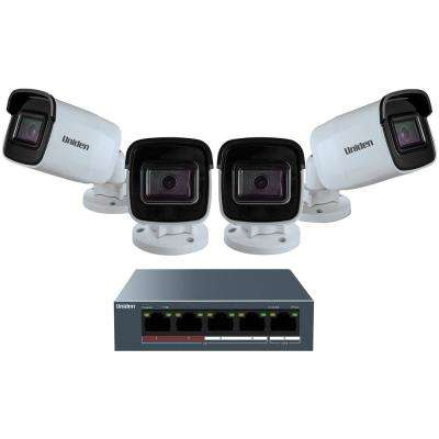 Unlimited-Channel 1080p Surveillance System with 4-Wired Cameras