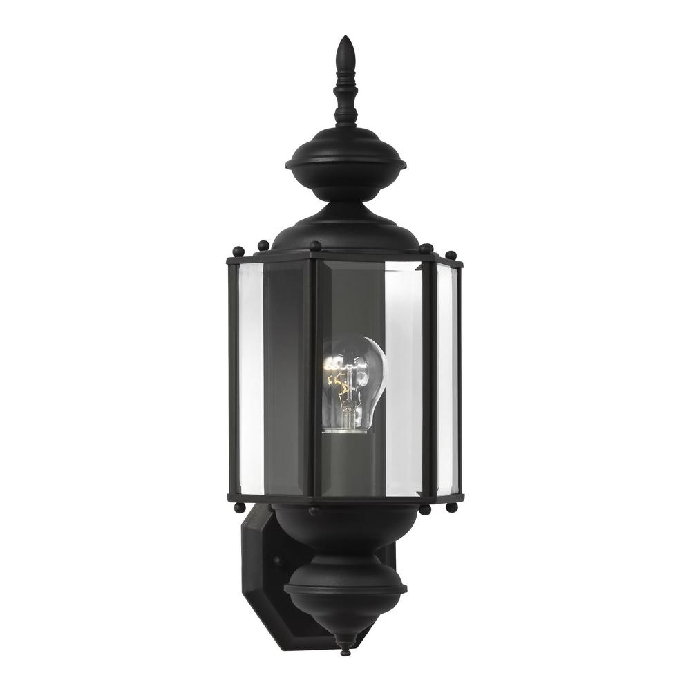 Sea gull lighting sebring 1 light brushed stainless outdoor wall classico 1 light black outdoor wall fixture aloadofball Images
