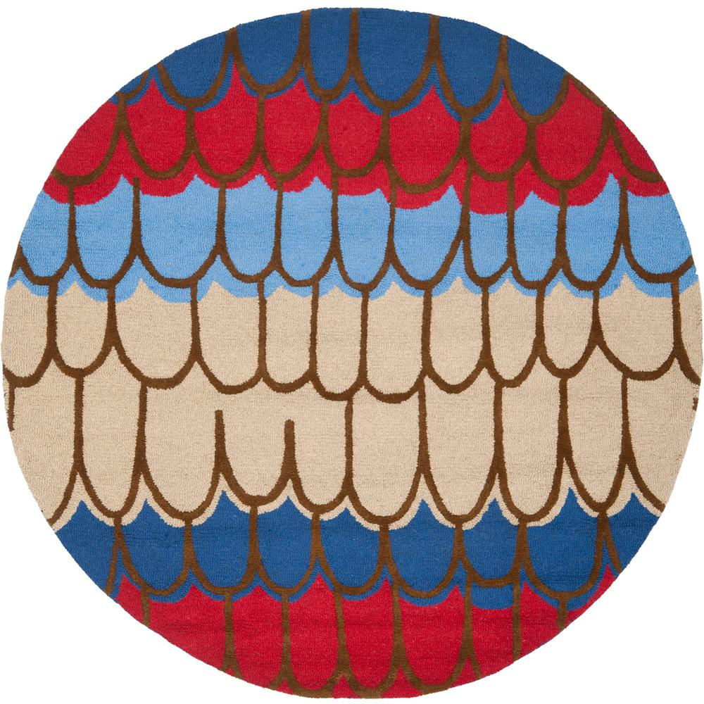 Safavieh Kids Blue/Multi 6 Ft. X 6 Ft. Round Area Rug