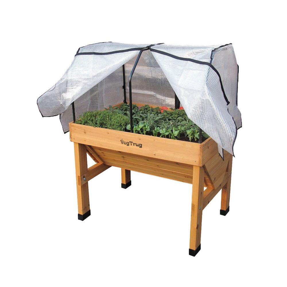 41 in. VegTrug Small Greenhouse Frame and PE Cover