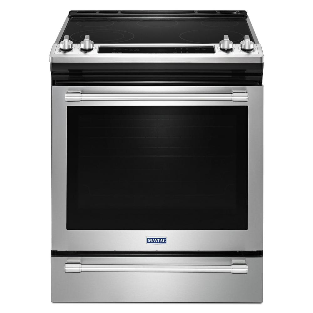 Maytag 30 In 6 4 Cu Ft Slide Electric Range With True