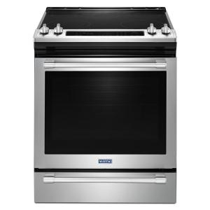 Maytag 6 4 Cu Ft Slide In Electric Range With True