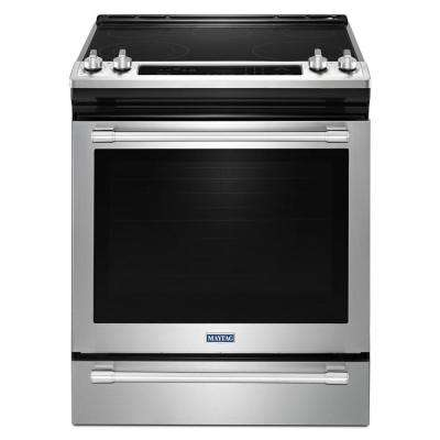 30 in. 6.4 cu. ft. Slide-In Electric Range with True Convection in Fingerprint Resistant Stainless Steel