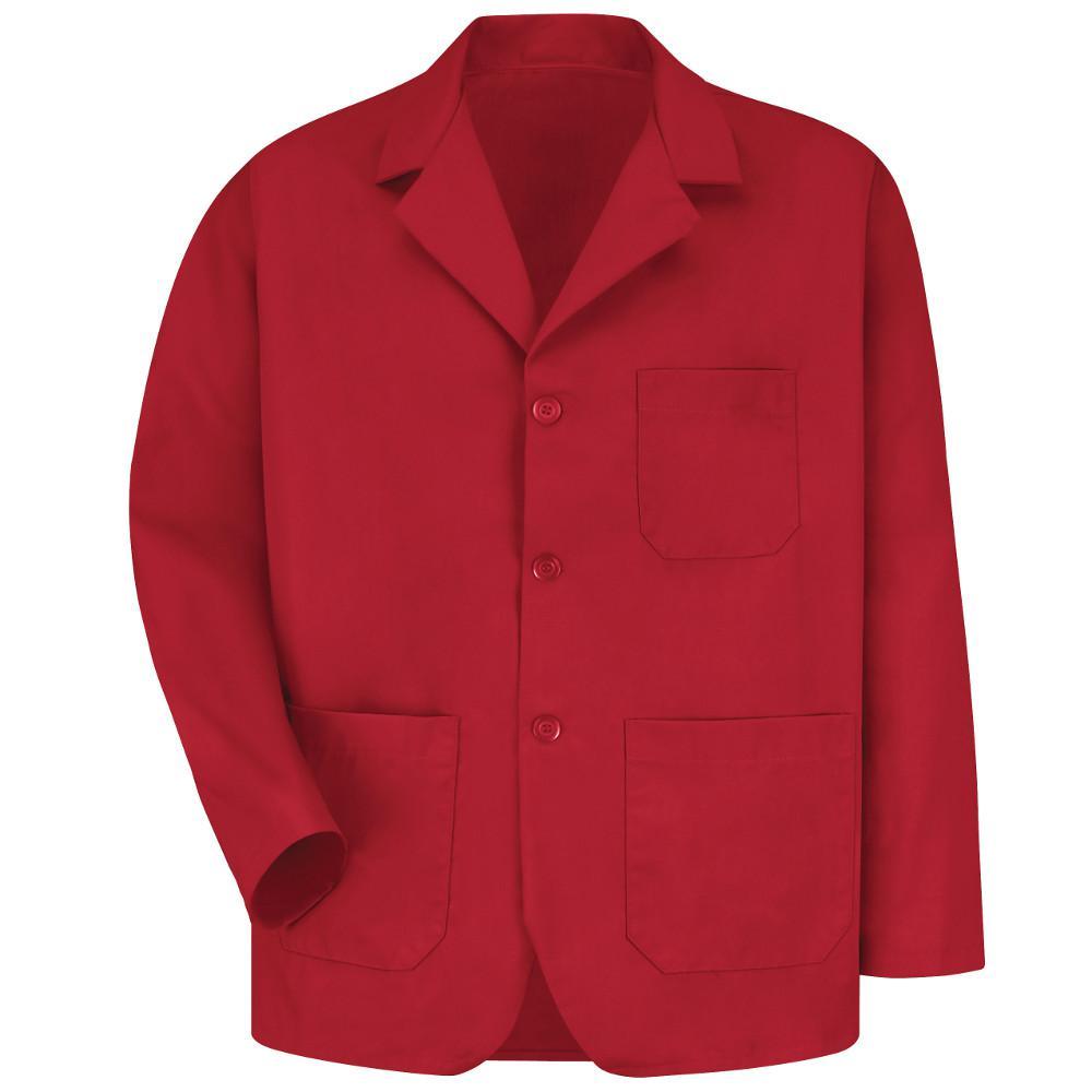 Men's Size L Red Lapel Counter Coat