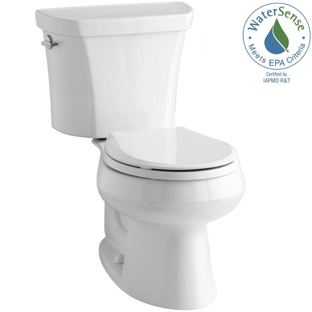 Kohler Wellworth 2 Piece 1 Or 6 Gpf Dual Flush Round Toilet In White