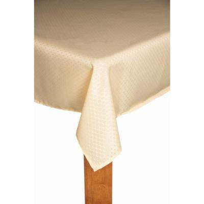 Chelton 60 in. x 102 in. Champagne 100% Polyester Tablecloth