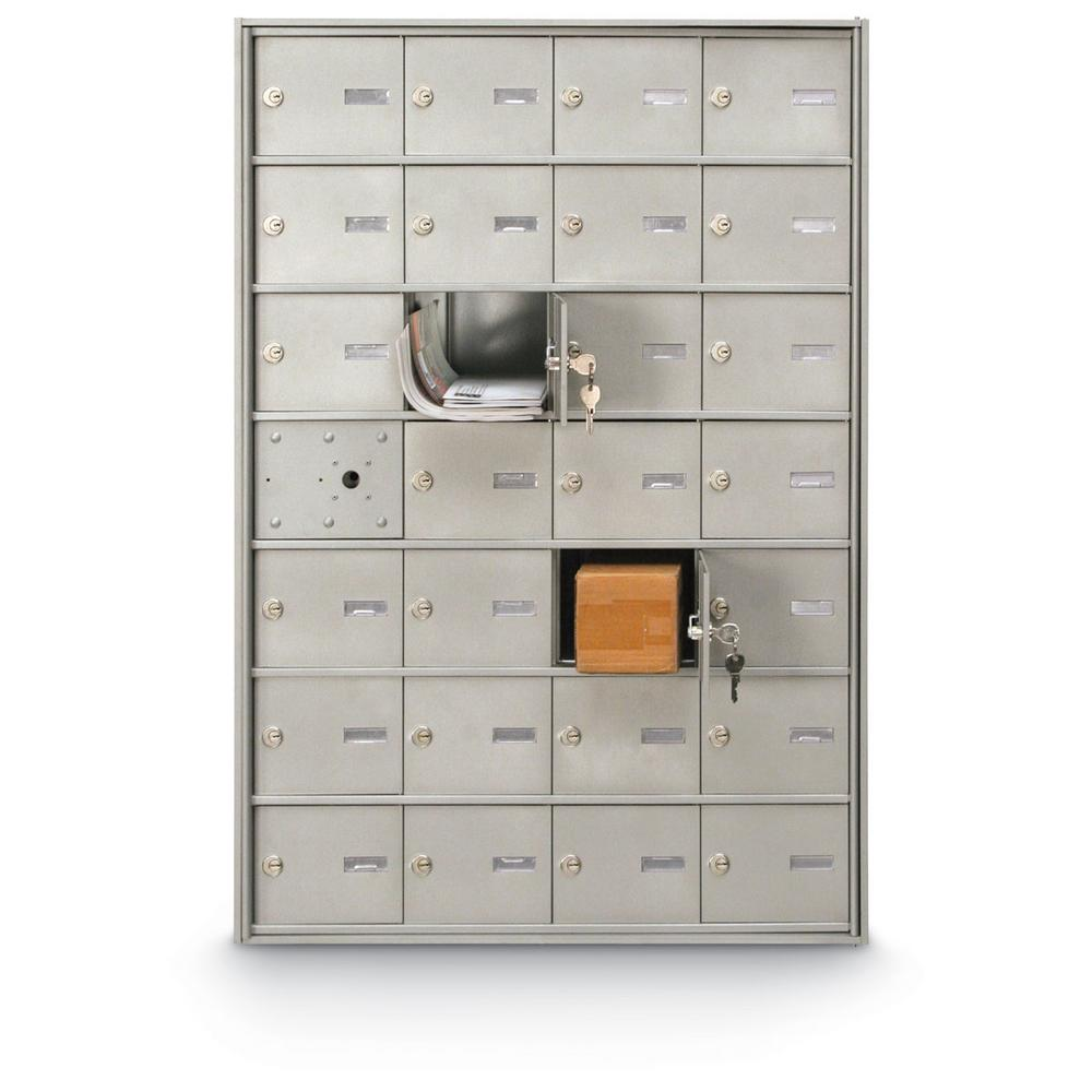 Postal Products Unlimited 27-Compartment Front Load 4B+ Horizontal Mailbox