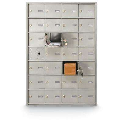 27-Compartment Front Load 4B+ Horizontal Mailbox
