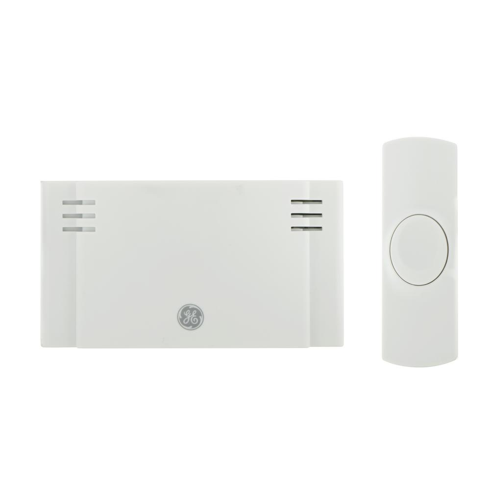GE Wireless Door Chime, Battery Operated 2 Melody With 1 Push Button 19247    The Home Depot
