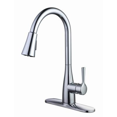 Sadira Single-Handle Pull-Down Sprayer Kitchen Faucet in Chrome