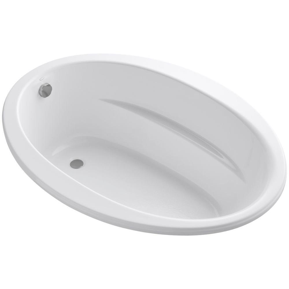 Kohler Sunward 5 Ft End Drain Soaking Tub In White K 1163