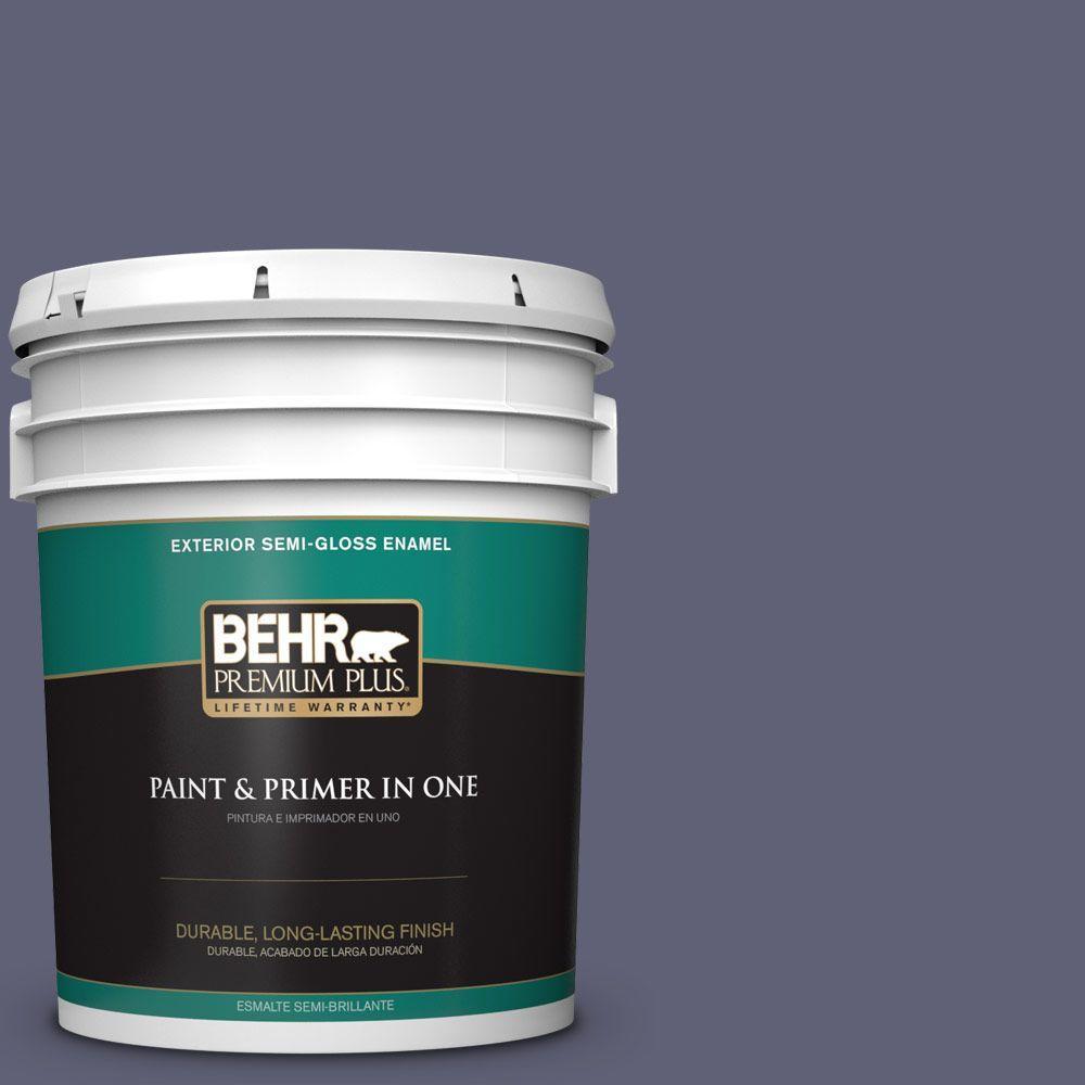 BEHR Premium Plus 5-gal. #620F-6 Purple Orchid Semi-Gloss Enamel Exterior Paint