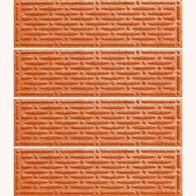 Orange 8.5 in. x 30 in. Mesh Stair Tread Cover (Set of 4)