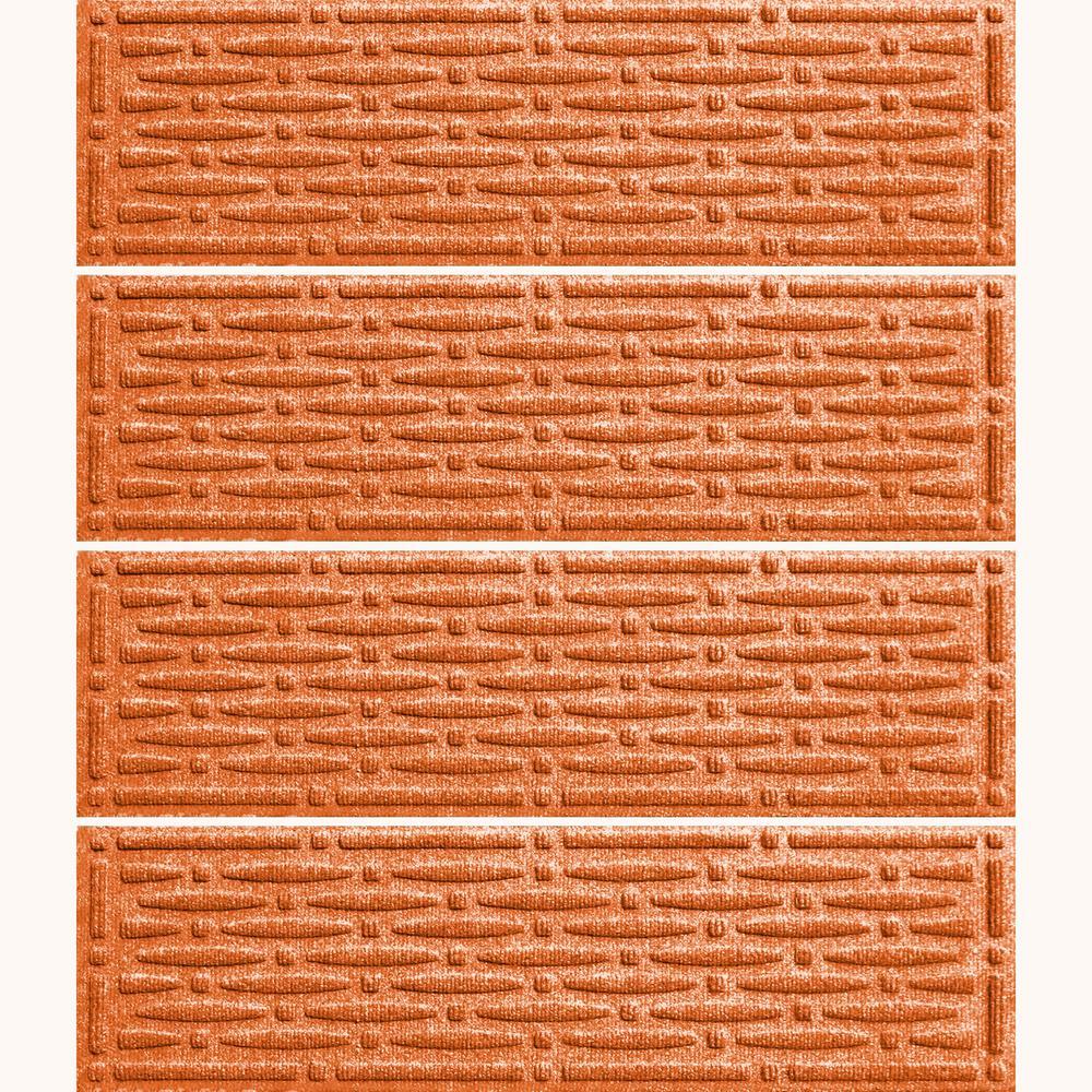 Orange 8.5 in. x 30 in. Mesh Stair Tread (Set of 4)