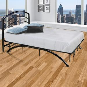 Dome Arch Black Twin Platform Bed Frame with Headboard