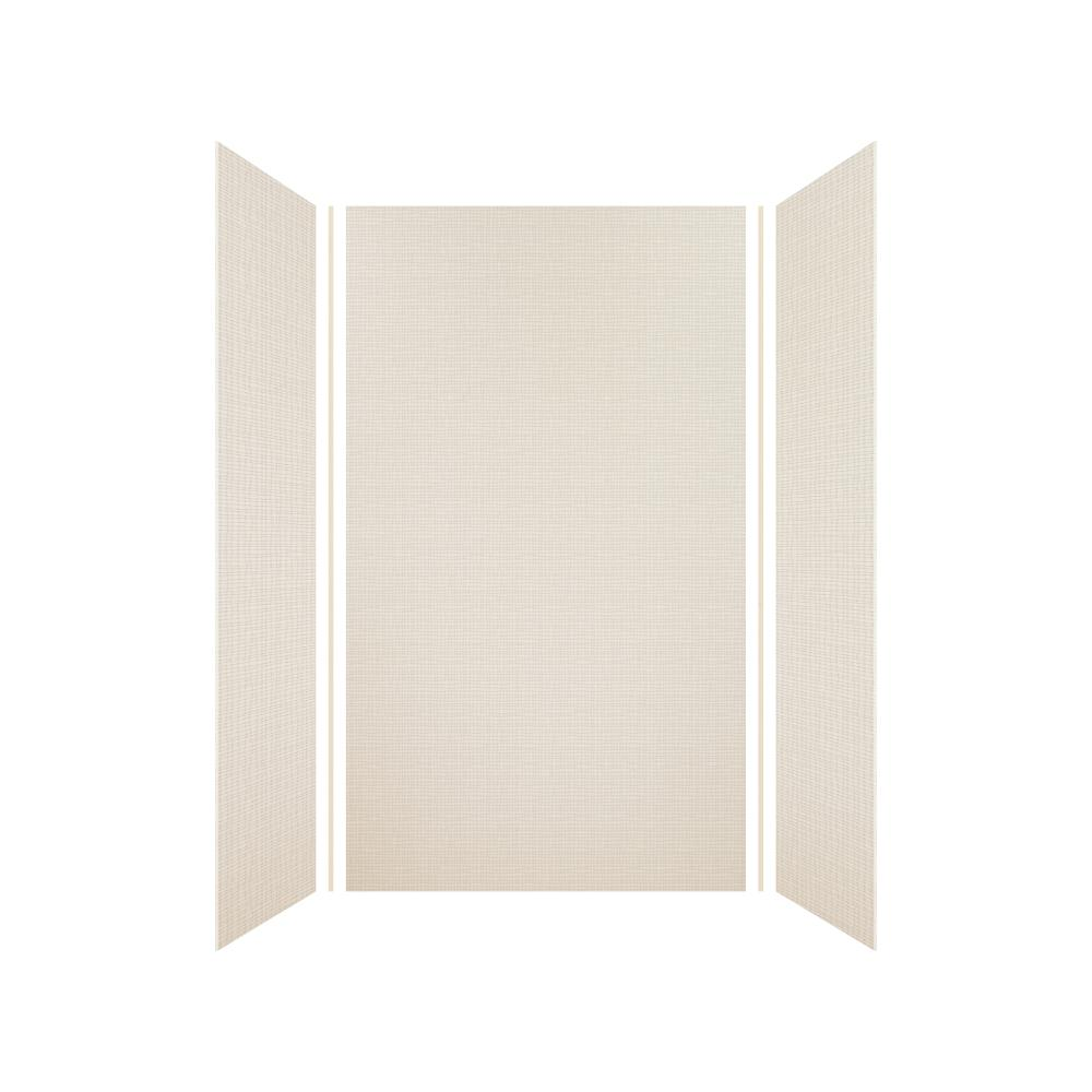 Transolid Expressions 36 in. x 42 in. x 72 in. 3-Piece Easy Up Adhesive Alcove Shower Wall Surround in Cameo