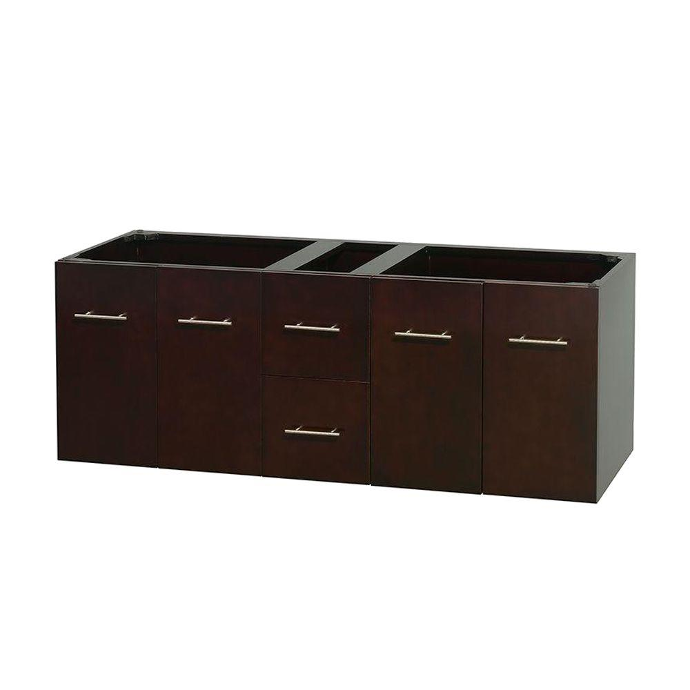Centra 59 in. Double Vanity Cabinet Only in Espresso