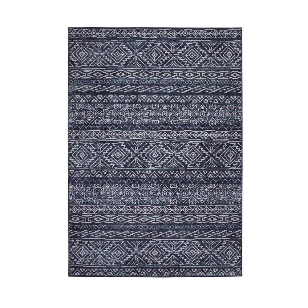 Sams international essentials cassidy blue ivory 5 ft x 8 for International decor rugs