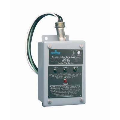 120/208-Volt 3-Phase WYE or Delta Surge Panel in Gray