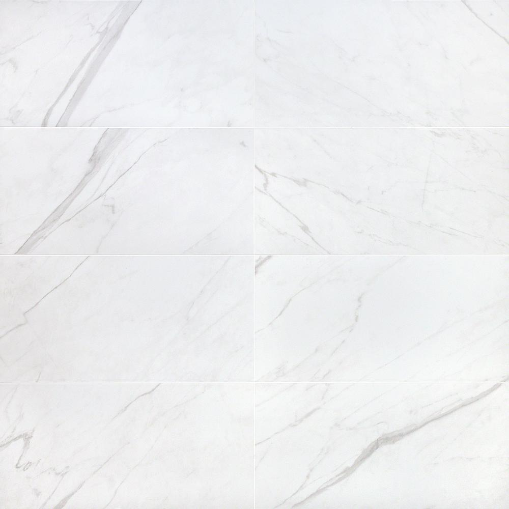 ivy hill tile essential marble white 12 in  x 24 in  10mm matte porcelain floor and wall tile  8
